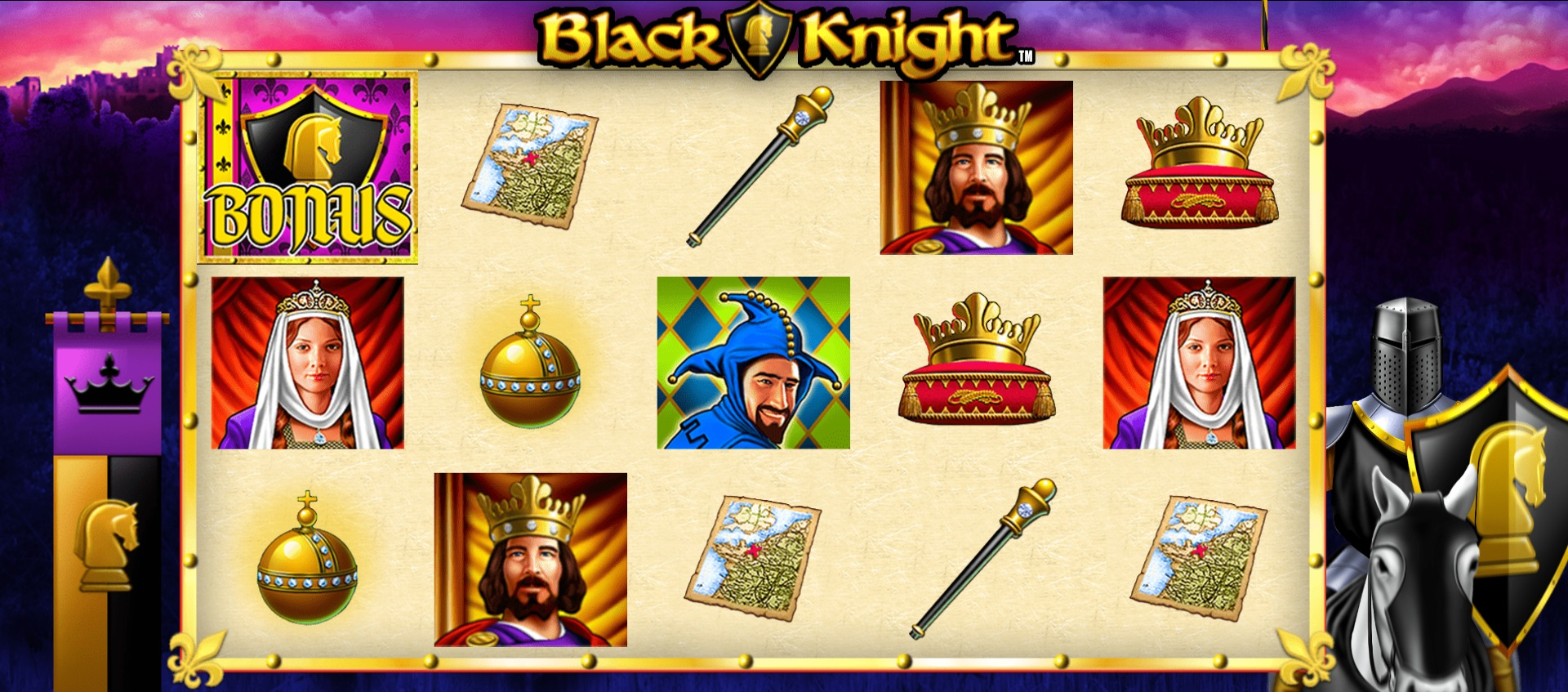 Experience a real step back in time with the free Black Knight slot